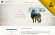 Houston Safari Club Website Design