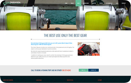 Parranda Sport Fishing Website Design